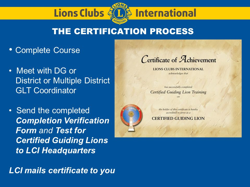 Certified Guiding Lion Program - Ppt Download