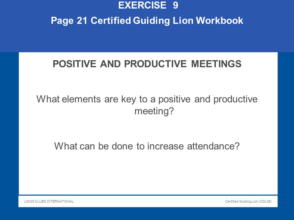 Page 21 Certified Guiding Lion Workbook