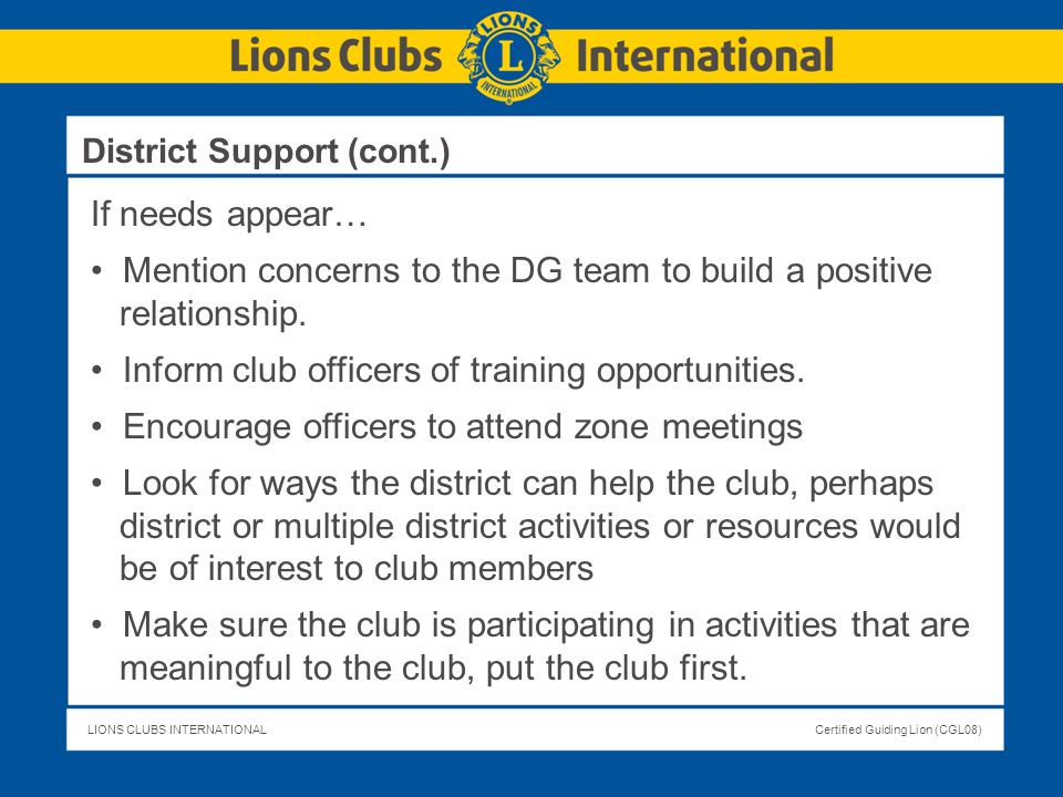 Mention concerns to the DG team to build a positive relationship.