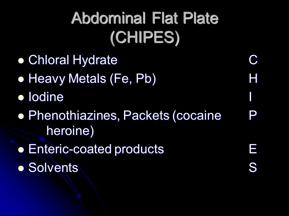 Abdominal Flat Plate (CHIPES)