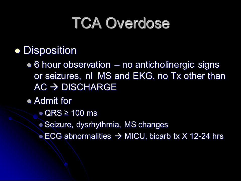 TCA Overdose Disposition