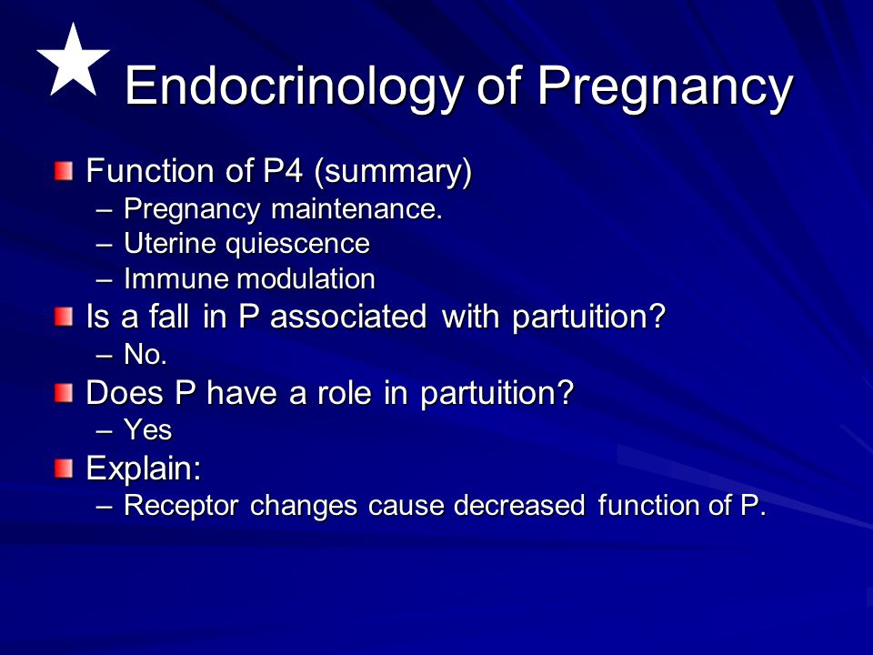 Endocrinology of Pregnancy