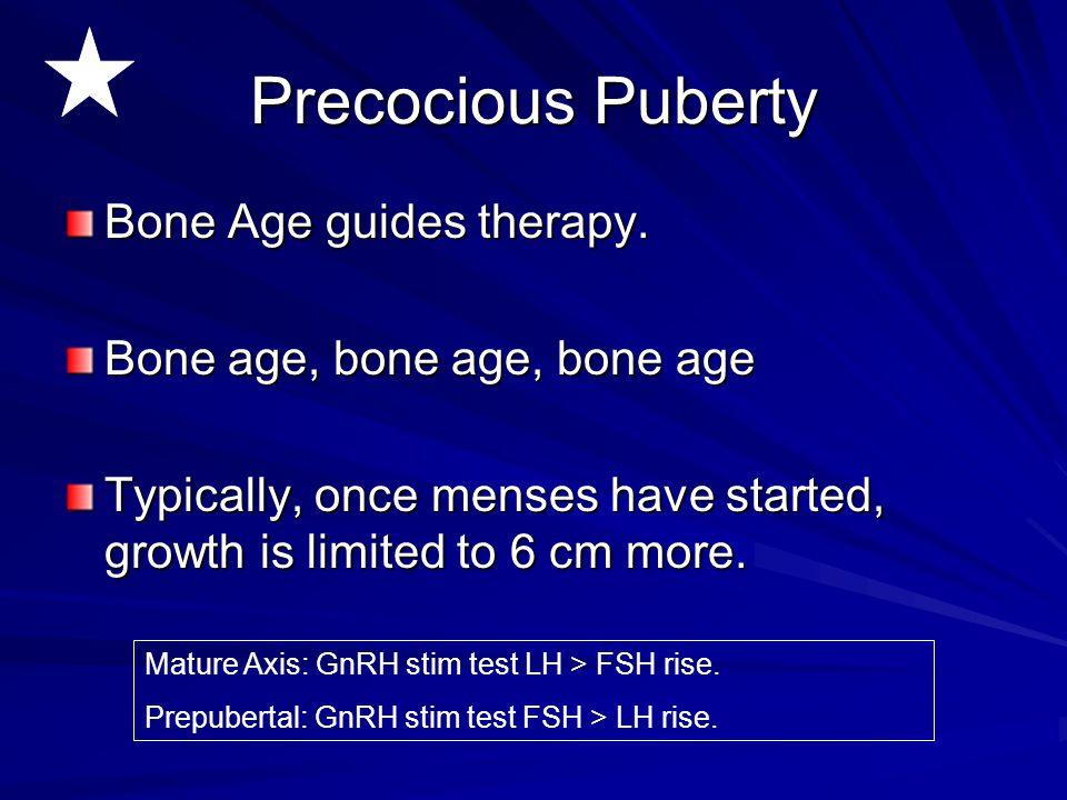 Precocious Puberty Bone Age guides therapy.