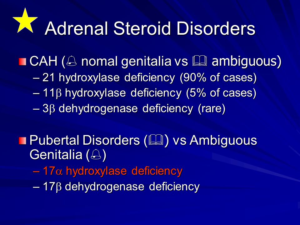 Adrenal Steroid Disorders