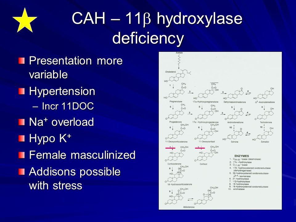 CAH – 11b hydroxylase deficiency