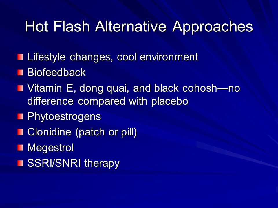 Hot Flash Alternative Approaches