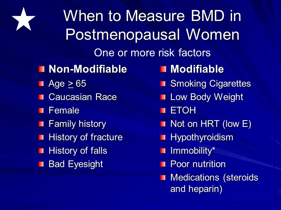 When to Measure BMD in Postmenopausal Women