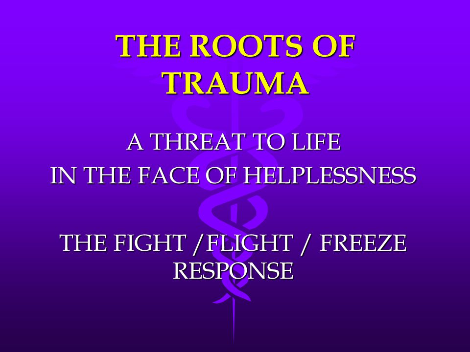 THE ROOTS OF TRAUMA A THREAT TO LIFE IN THE FACE OF HELPLESSNESS