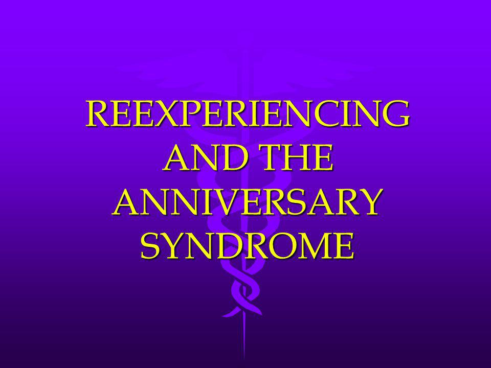 REEXPERIENCING AND THE ANNIVERSARY SYNDROME