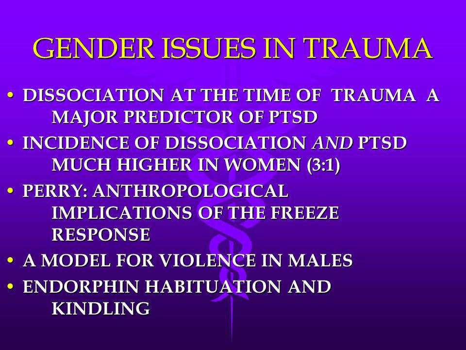 GENDER ISSUES IN TRAUMA