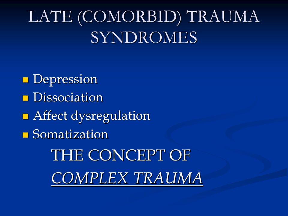 LATE (COMORBID) TRAUMA SYNDROMES