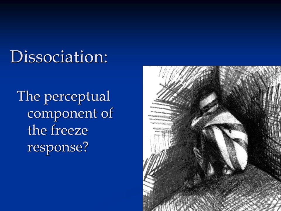 Dissociation: The perceptual component of the freeze response