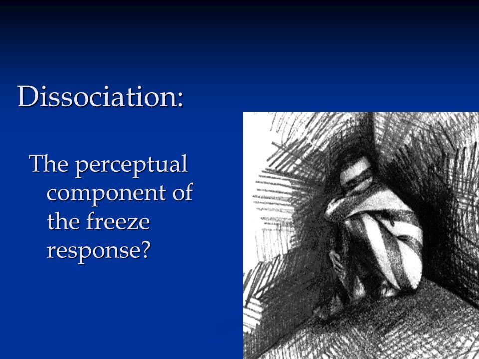 Dissociation: The perceptual component of the freeze response