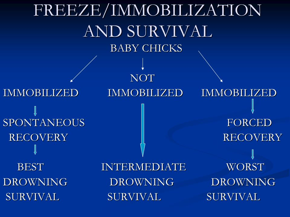 FREEZE/IMMOBILIZATION AND SURVIVAL