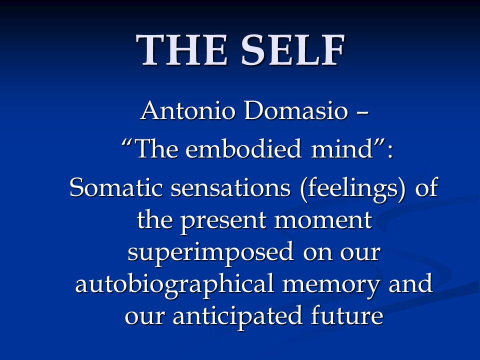 THE SELF Antonio Domasio – The embodied mind :