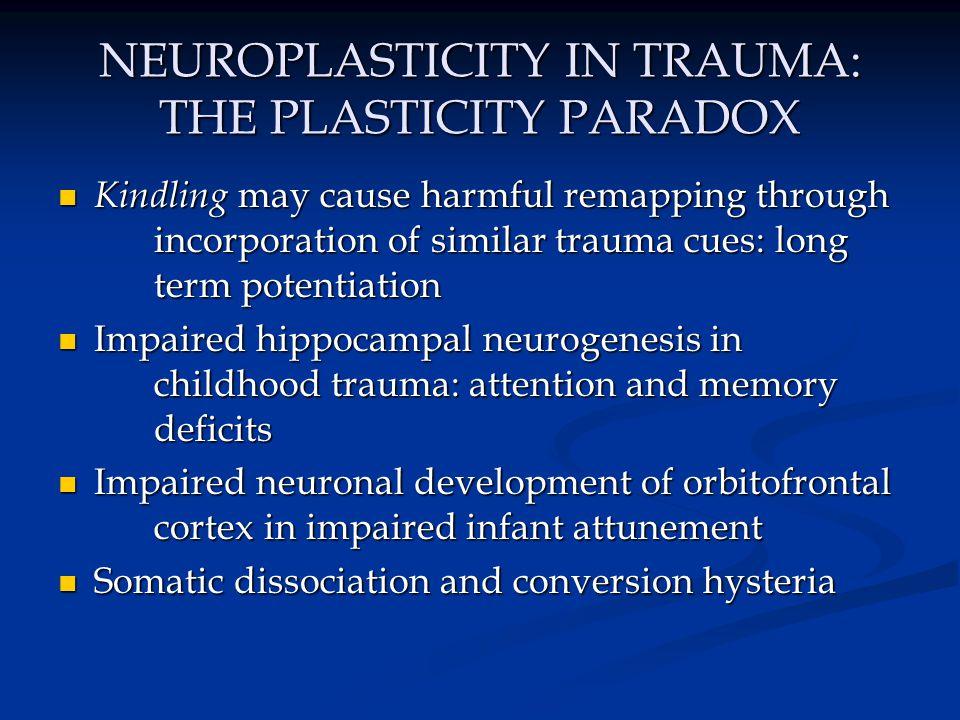 NEUROPLASTICITY IN TRAUMA: THE PLASTICITY PARADOX