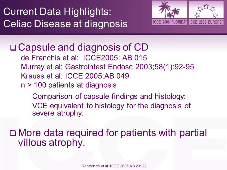 Current Data Highlights: Celiac Disease at diagnosis