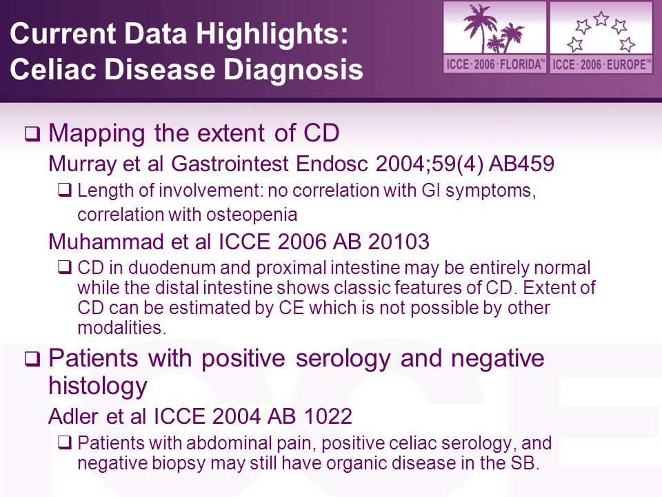 Current Data Highlights: Celiac Disease Diagnosis