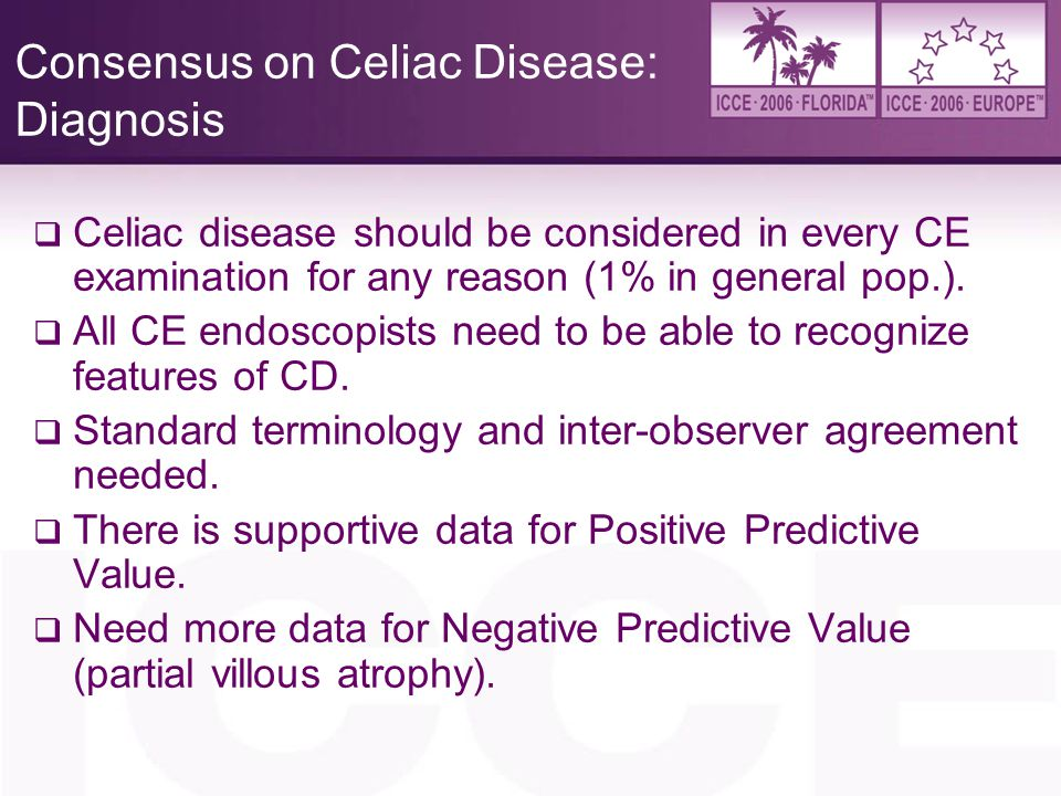 Consensus on Celiac Disease: Diagnosis