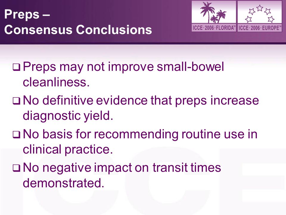 Preps – Consensus Conclusions