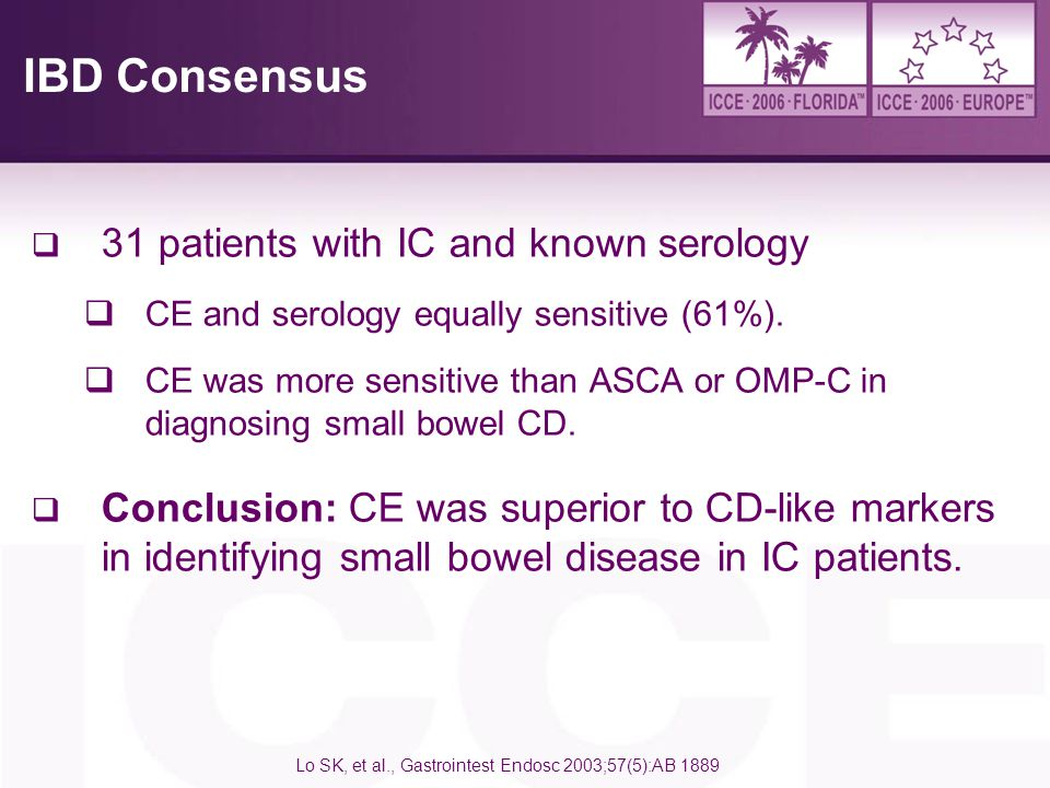 IBD Consensus 31 patients with IC and known serology