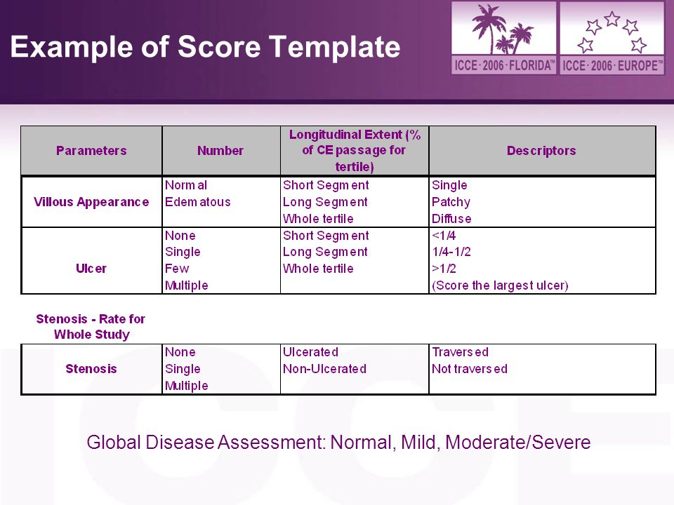 Example of Score Template