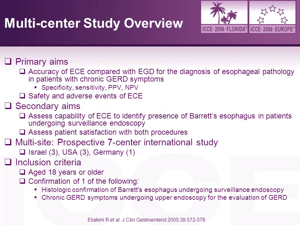 Multi-center Study Overview