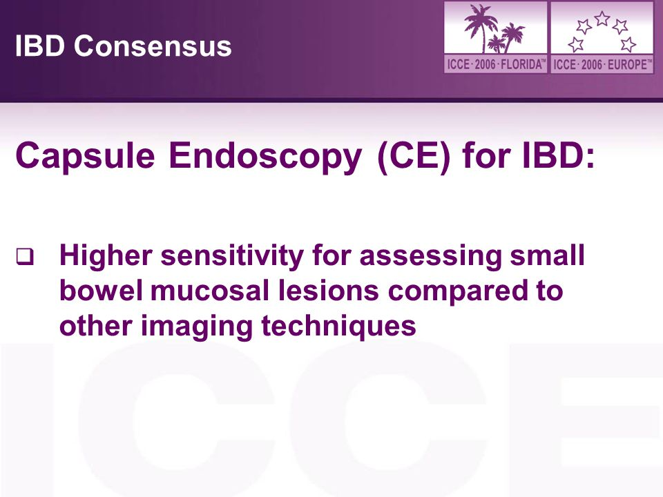 Capsule Endoscopy (CE) for IBD: