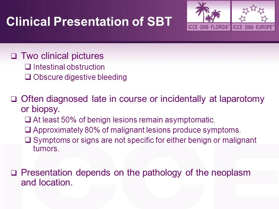 Clinical Presentation of SBT