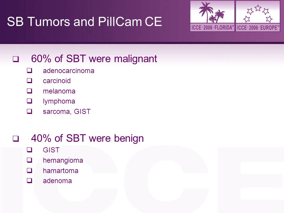 SB Tumors and PillCam CE