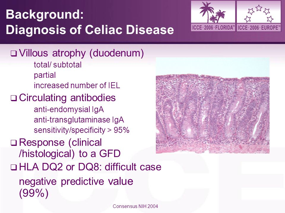 Background: Diagnosis of Celiac Disease