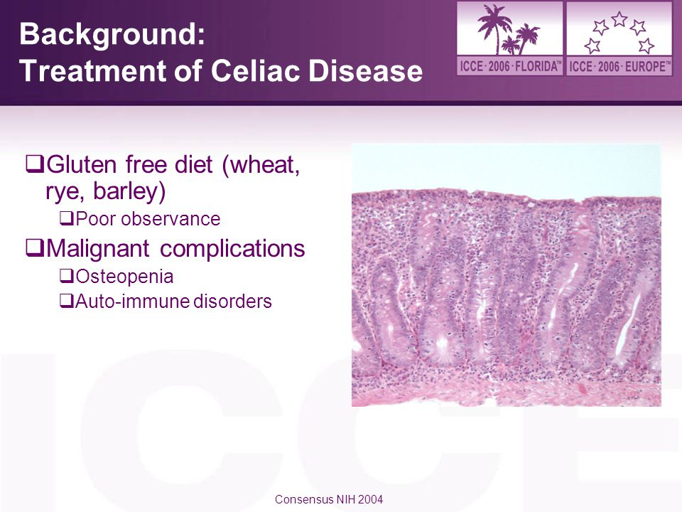 Background: Treatment of Celiac Disease