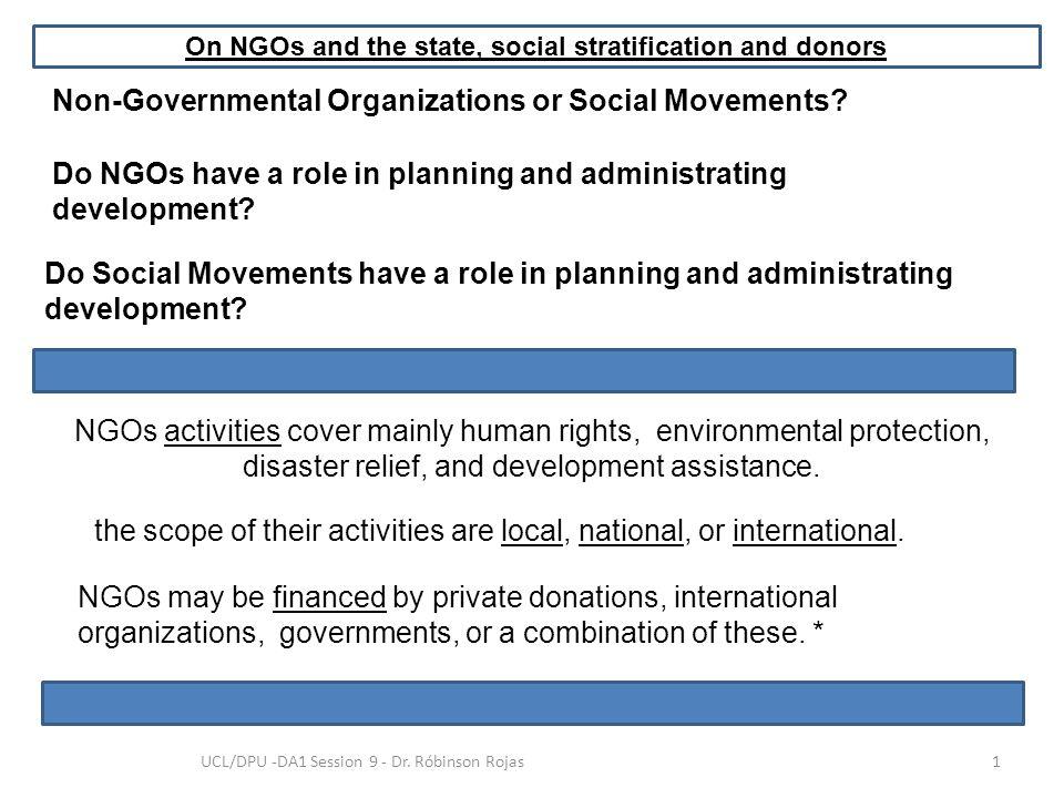 Non-Governmental Organizations or Social Movements