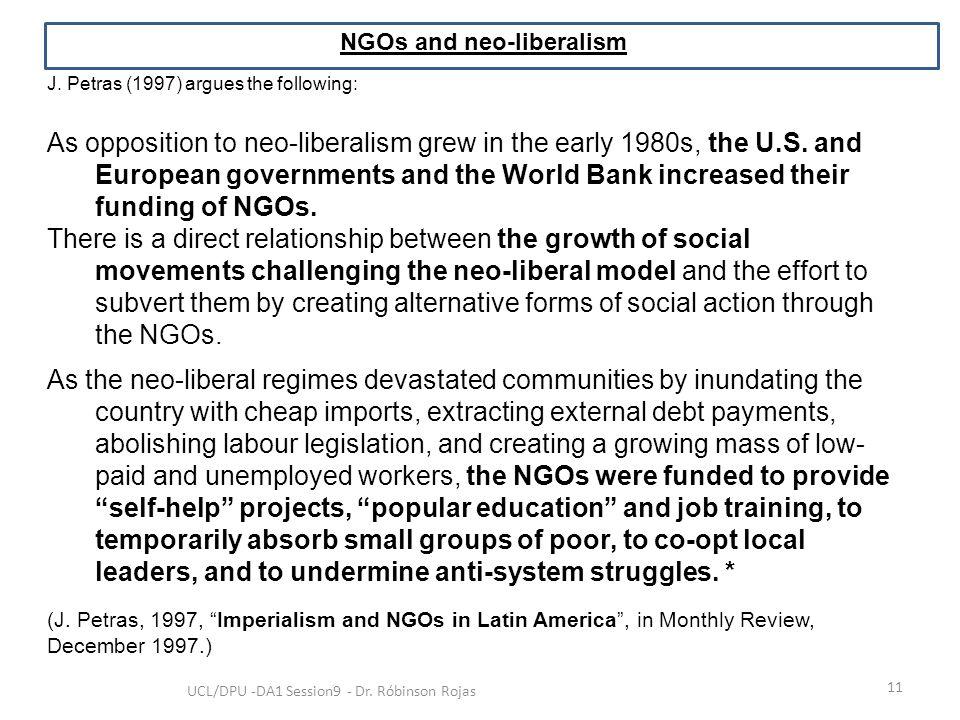 NGOs and neo-liberalism