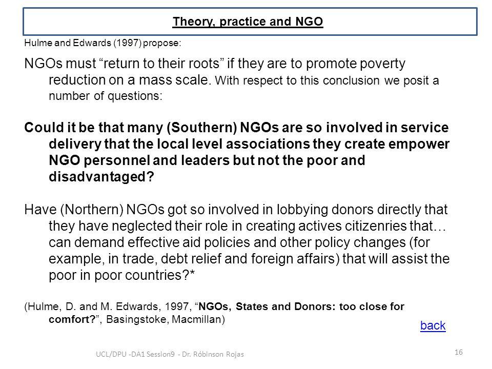 Theory, practice and NGO
