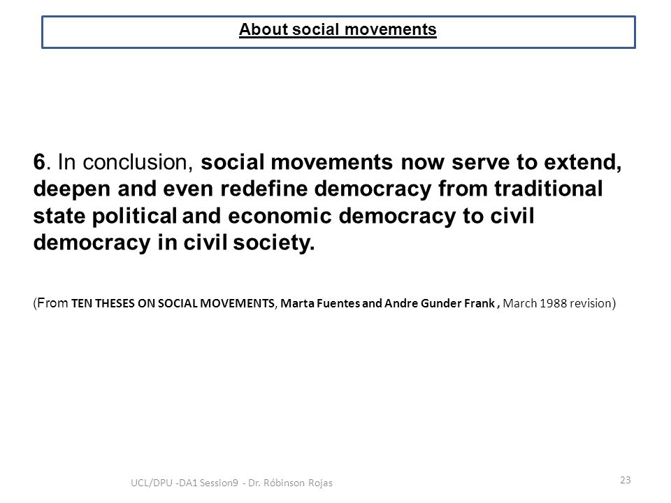 About social movements