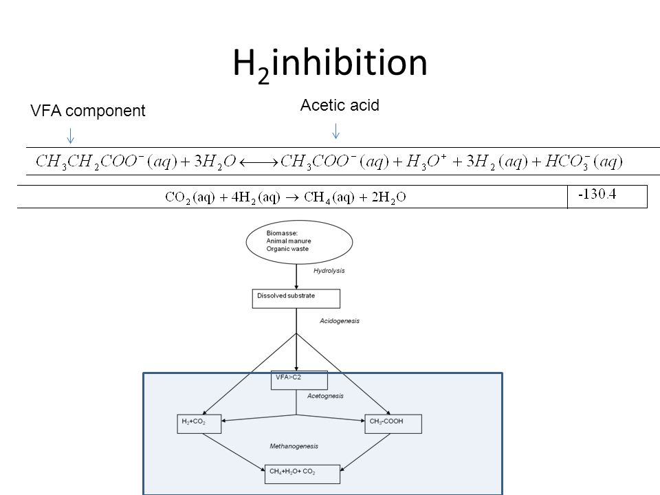 H2inhibition Acetic acid VFA component