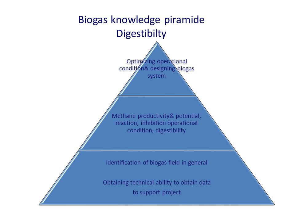 Biogas knowledge piramide Digestibilty