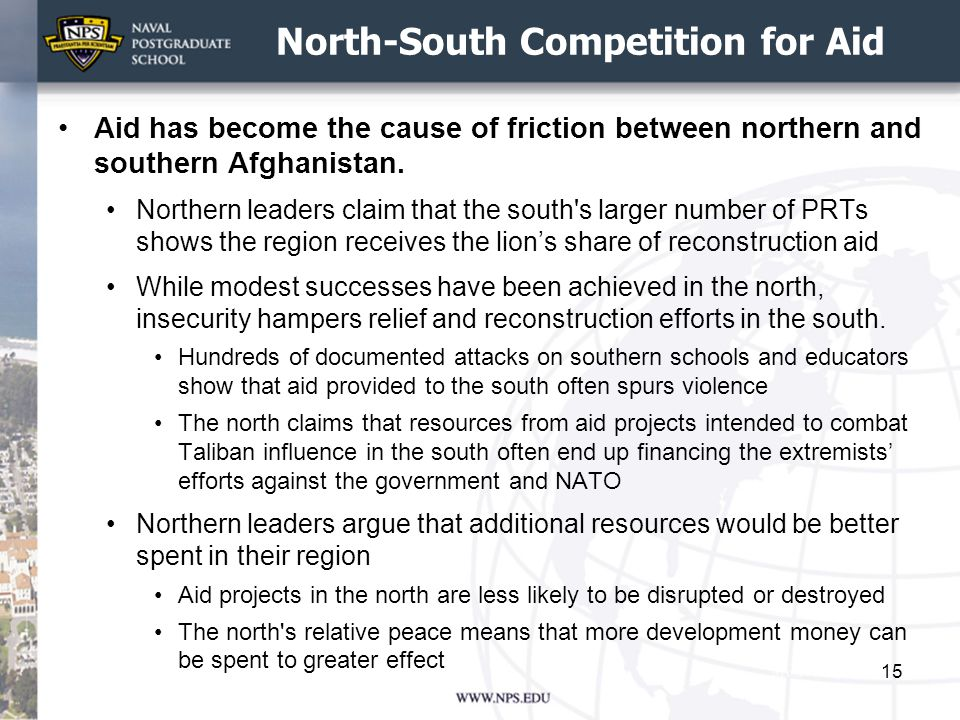 North-South Competition for Aid