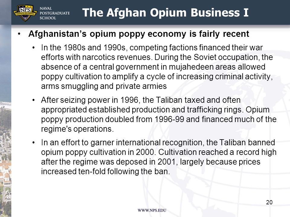 The Afghan Opium Business I