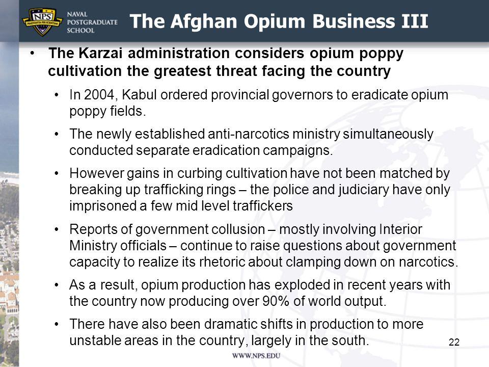 The Afghan Opium Business III