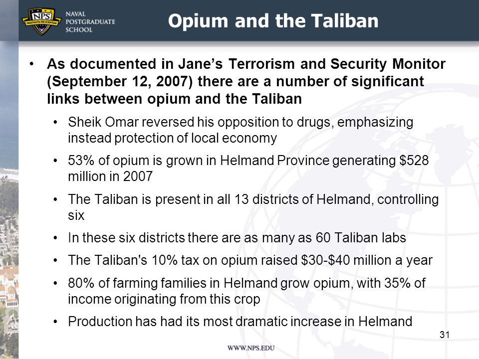 Opium and the Taliban