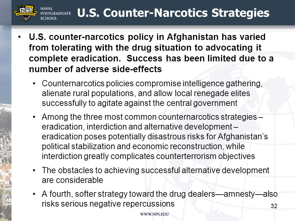 U.S. Counter-Narcotics Strategies