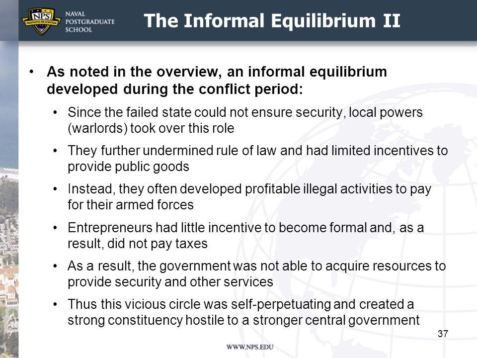 The Informal Equilibrium II