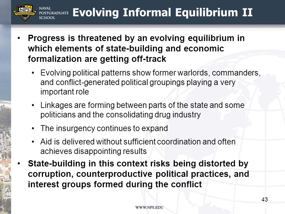 Evolving Informal Equilibrium II