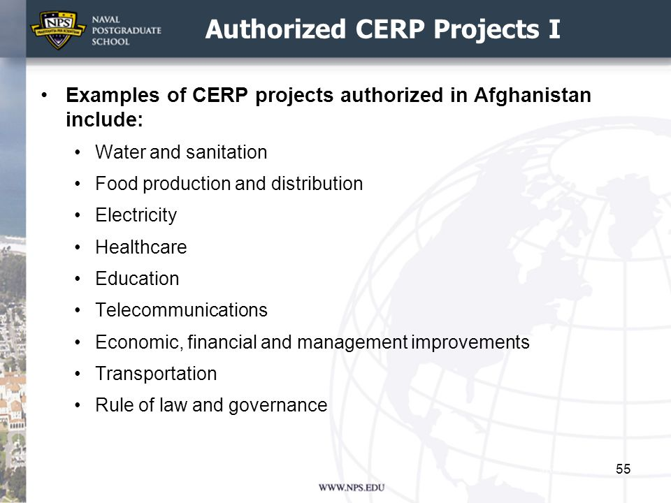 Authorized CERP Projects I