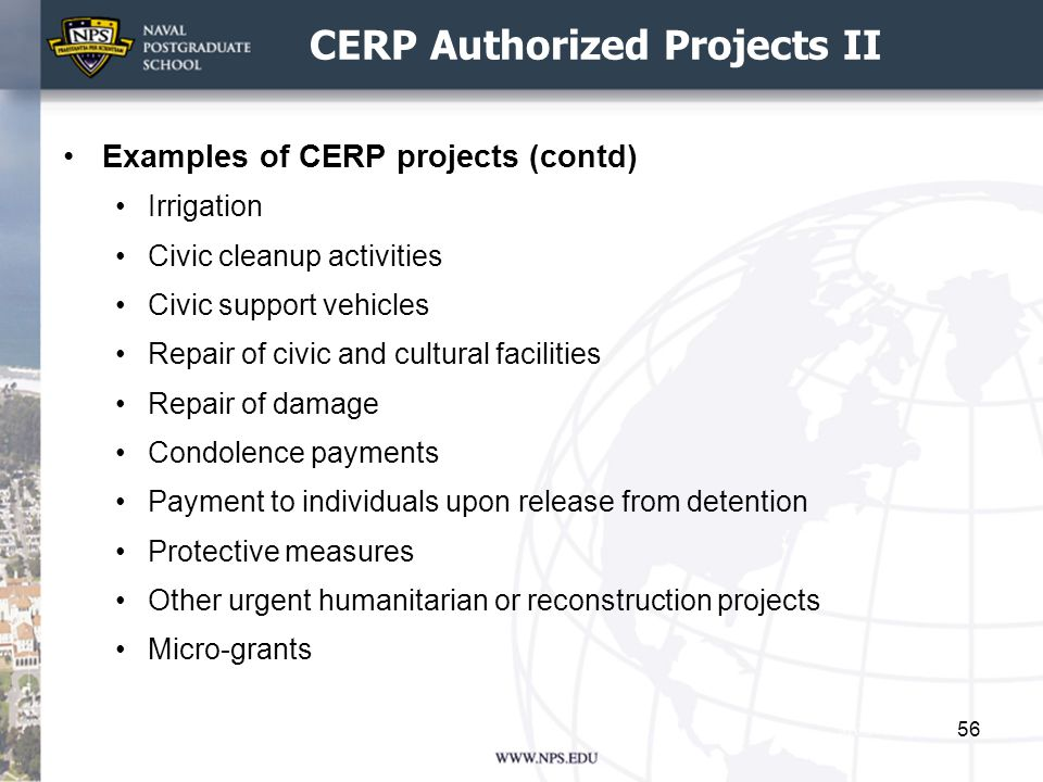 CERP Authorized Projects II