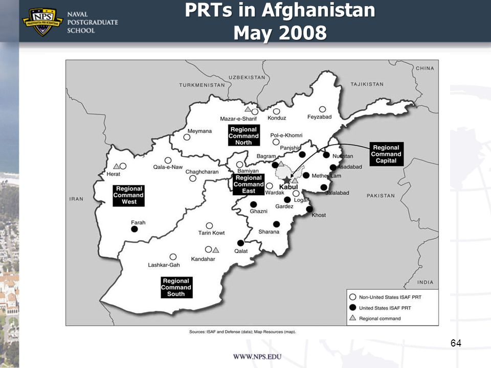 PRTs in Afghanistan May 2008