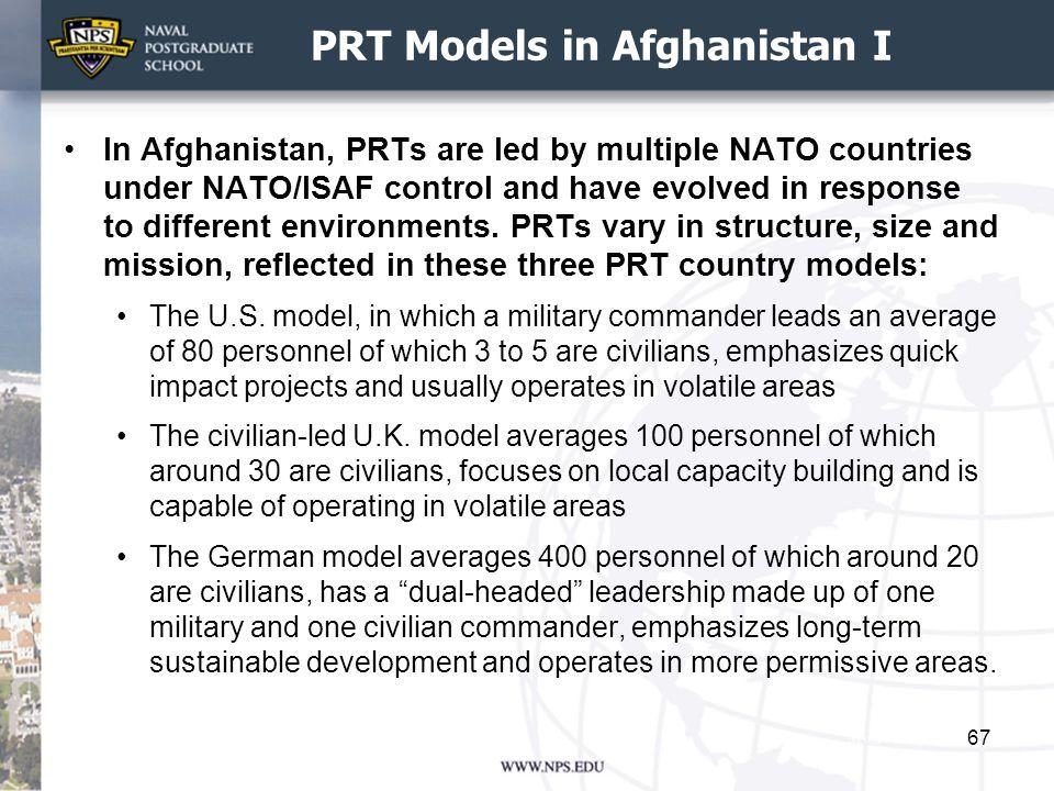 PRT Models in Afghanistan I