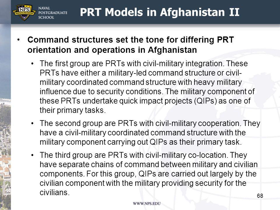 PRT Models in Afghanistan II